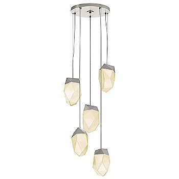 Satin Nickel / Medium shade / 5 Light