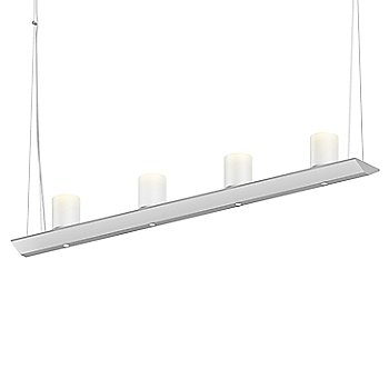 Clear Etched Glass, Satin White finish / 3 Foot