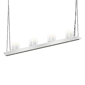 Large Clear Etched Glass, Bright Satin Aluminum finish / 3 Foot