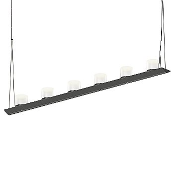 Large Clear Etched Glass, Satin Black finish / 4 Foot
