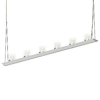 Large Clear Etched Glass, Satin White finish / 4 Foot