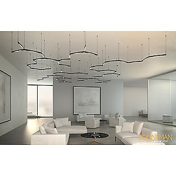 Ola Double Linear LED Pendant / in use