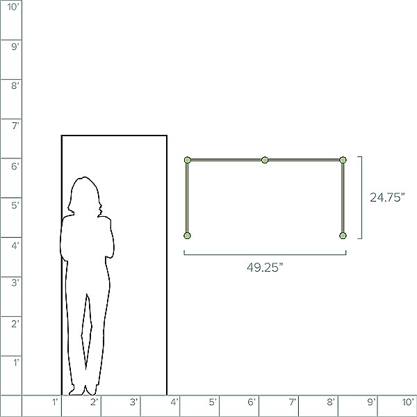 Purolinear 360 24-Inch Double N LED Wall Sconce