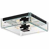 Mercer Street 4-Light Flush Mount (Black) - OPEN BOX RETURN