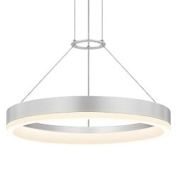 Corona LED Pendant Light (Satin Aluminum/Large) - OPEN BOX