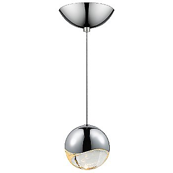 Shown in Polished Chrome w Clear Glass finish, Large, Dome Shape