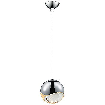 Shown in Polished Chrome w Clear Glass finish, Medium, Micro-Dome Shape