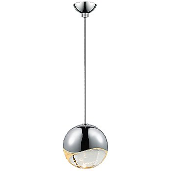 Shown in Polished Chrome w Clear Glass finish, Large, Micro-Dome Shape