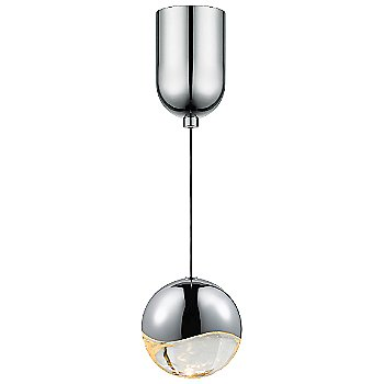 Shown in Polished Chrome w Clear Glass finish, Large, Mini-Dome Shape
