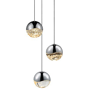 Shown in Polished Chrome w Clear Glass finish, Large