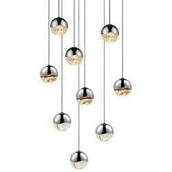 Grapes 9 Light LED Round Multipoint Pendant