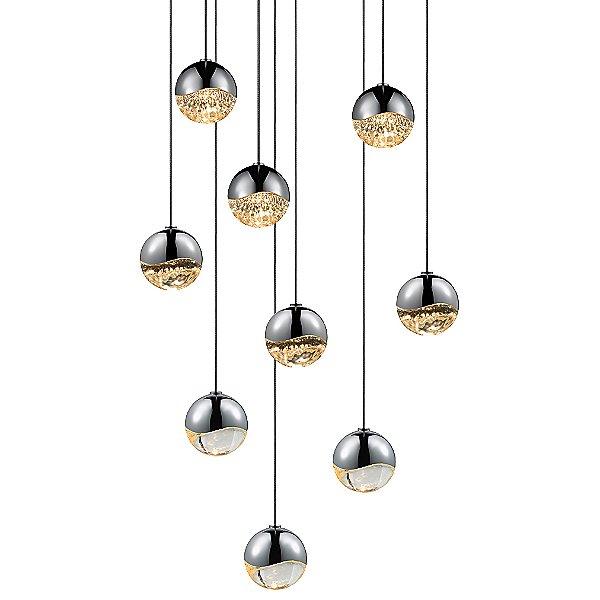 Grapes 9-Light LED Round Multi-Light Pendant Light