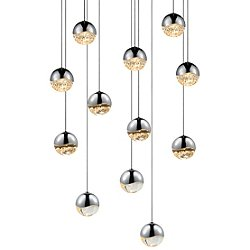 Grapes 12 Light LED Round Multipoint Pendant