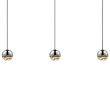Shown in Polished Chrome w Clear Glass finish, Small