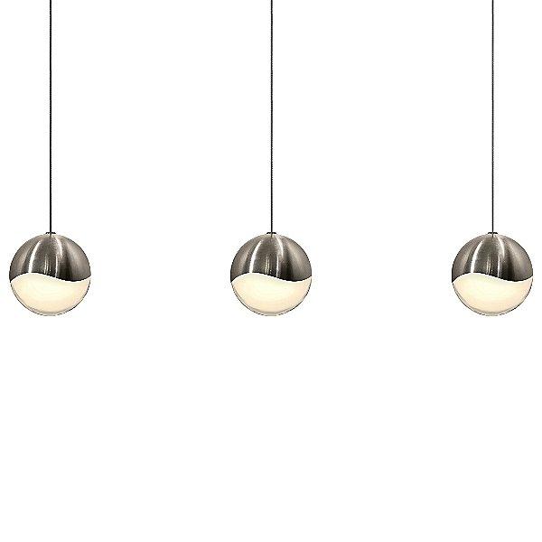 Grapes 3 Light LED Rectangular Multipoint Pendant