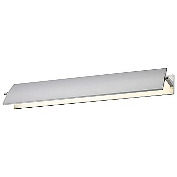 Shown in Bright Satin Aluminum finish, 24 inch