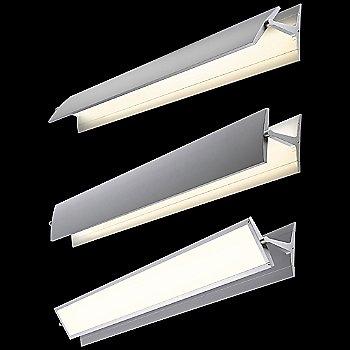 Shown in Bright Satin Aluminum finish, 36 inch