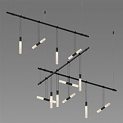Suspenders 36/48 Inch 8-Bar Zig Zag LED Lighting System - Crystal Double Rod