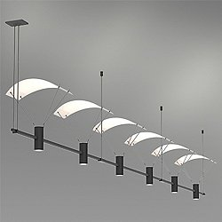 Suspenders 36 Inch 3-Bar In-Line Linear LED System - Bar-Mounted Duplex Cylinder / Flood Lens / Parachute Reflector