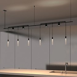 Suspenders 36 Inch 2-Bar In-Line Linear LED Lighting System - Crystal Rod