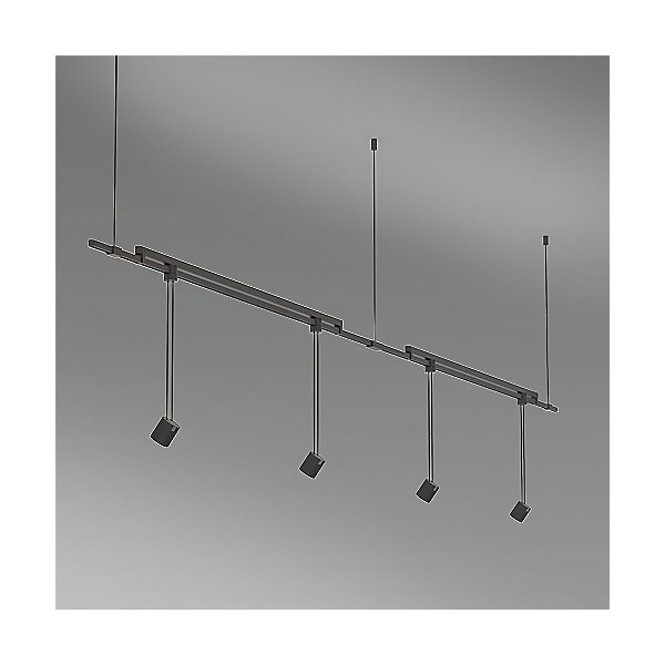 Suspenders 36 Inch 2-Bar Mounted In-Line Linear LED Lighting System - Aimable Cylinder / Flood Lens