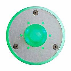 Round Doorbell Button (Green) - OPEN BOX RETURN