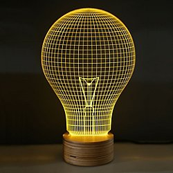 Yellow Bulb LED Table Lamp