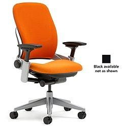 Leap Office Chair (Black/Buzz 2: Carrot/Hard Casters) - OPEN BOX RETURN