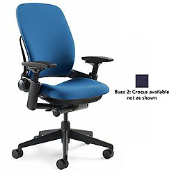 Leap Office Chair (Black/Buzz 2: Crocus/Hard Casters) - OPEN BOX RETURN