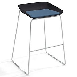 Scoop Stool (Buzz2: Sky/Cobblestone/Platinum Metallic/Glides for Hard Floors) - OPEN BOX RETURN