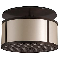Brentwood Bottom Pattern Semi-Flush Mount Ceiling Light