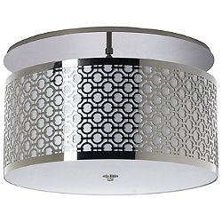 Brentwood Side Pattern Semi-Flush Mount Ceiling Light