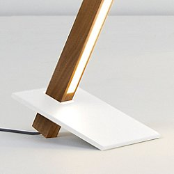 2 Foot Torch Table Lamp (White) - OPEN BOX RETURN