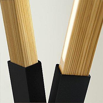 Blackened Steel finish with Heart Pine