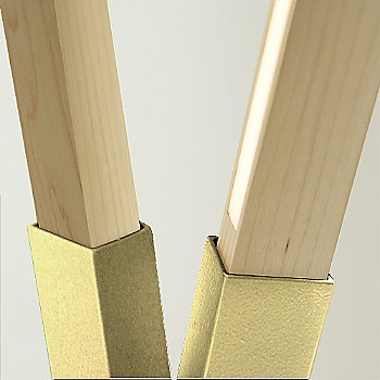 Polished Brass finish with Maple