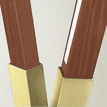 Polished Brass finish with Walnut