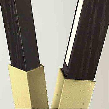 Polished Brass finish with Ebonized Oak