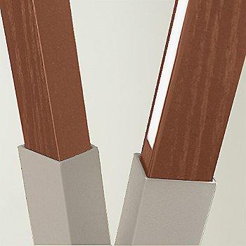 Brushed Nickel finish with Walnut