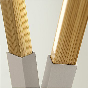 Brushed Nickel finish with Heart Pine