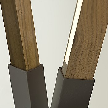 Slate Grey finish with Walnut and Yellow Pine Mix / Detail view