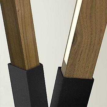 Matte Black finish with Walnut and Yellow Pine Mix / Detail view