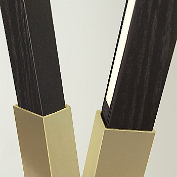 Brushed Brass finish with Maple / Detail view
