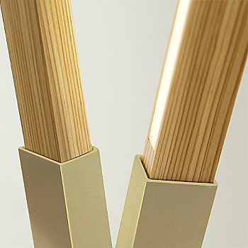 Brushed Brass finish with Water Tower Redwood (Reclaimed) / Detail view