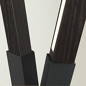 Polished Nickel finish with Ebonized Oak / Detail view