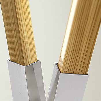 Polished Nickel finish with Water Tower Redwood (Reclaimed) / Detail view