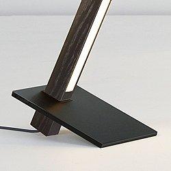 6 Foot Torch Floor Lamp (Oak/Matte Black) - OPEN BOX RETURN