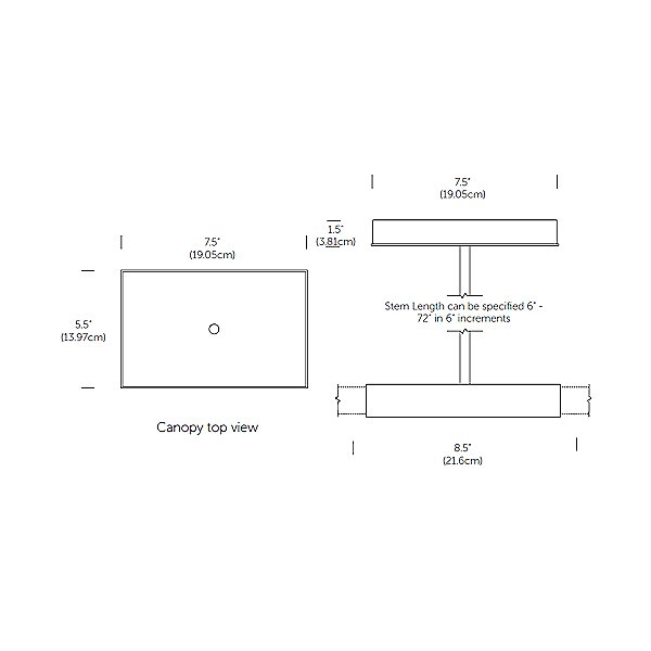 8 Foot LED Linear Suspension Light