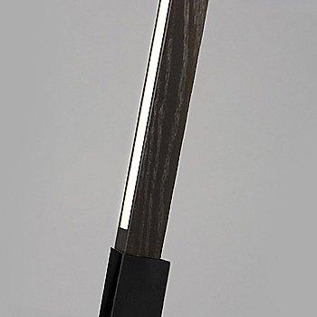 Blackened Steel finish with Ebonized Oak / Detail view