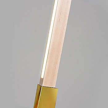 Polished Brass finish with Maple / Detail view