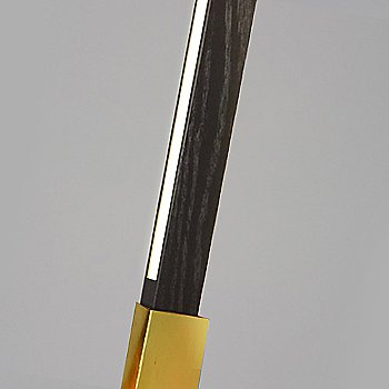 Polished Brass finish with Ebonized Oak / Detail view